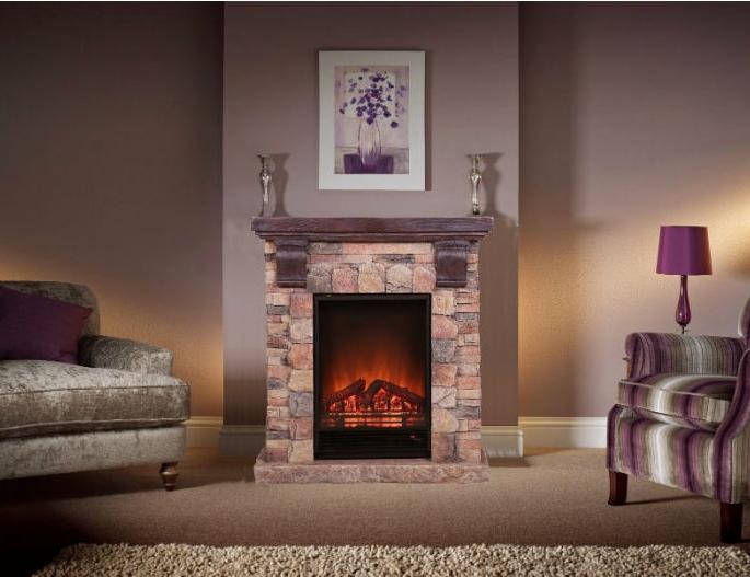 Современный пристенный каминокомплект El Fuego Kitzbuhel режим 3D имитации пламени и обогрева