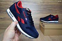 Женские кроссовки в стиле Reebok Classic, синий с красным текстиль+велюр 38(24 см), последний размер