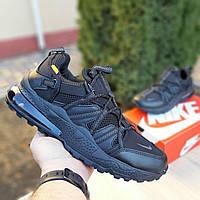 Мужские кроссовки в стиле Nike Air Max 270 Bowfin, ткань, кожа, пена, черные 42 (стелька 26,5 см)