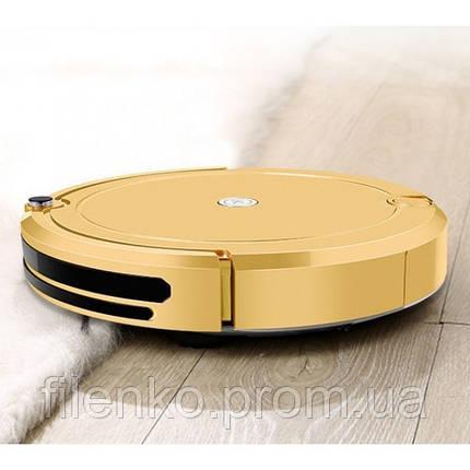 Робот пилосос Fengrui Pro для сухого та вологого прибирання Золотистий, фото 2