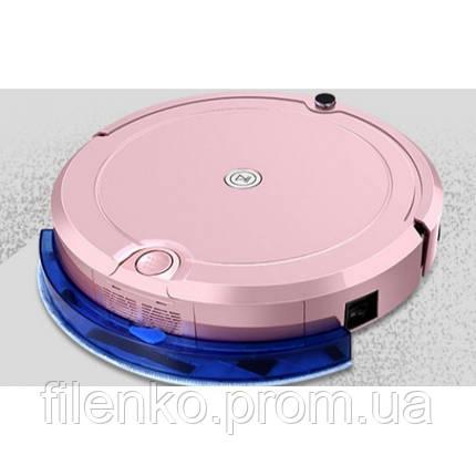 Робот пилосос Fengrui Pro для сухого та вологого прибирання Рожевий, фото 2