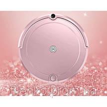 Робот пилосос Fengrui Pro для сухого та вологого прибирання Рожевий, фото 3