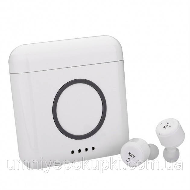 Бездротові навушники AS TWS X4T 3 в 1 Blue