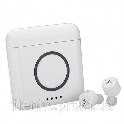 Бездротові навушники AS TWS X4T 3 в 1 Blue, фото 2