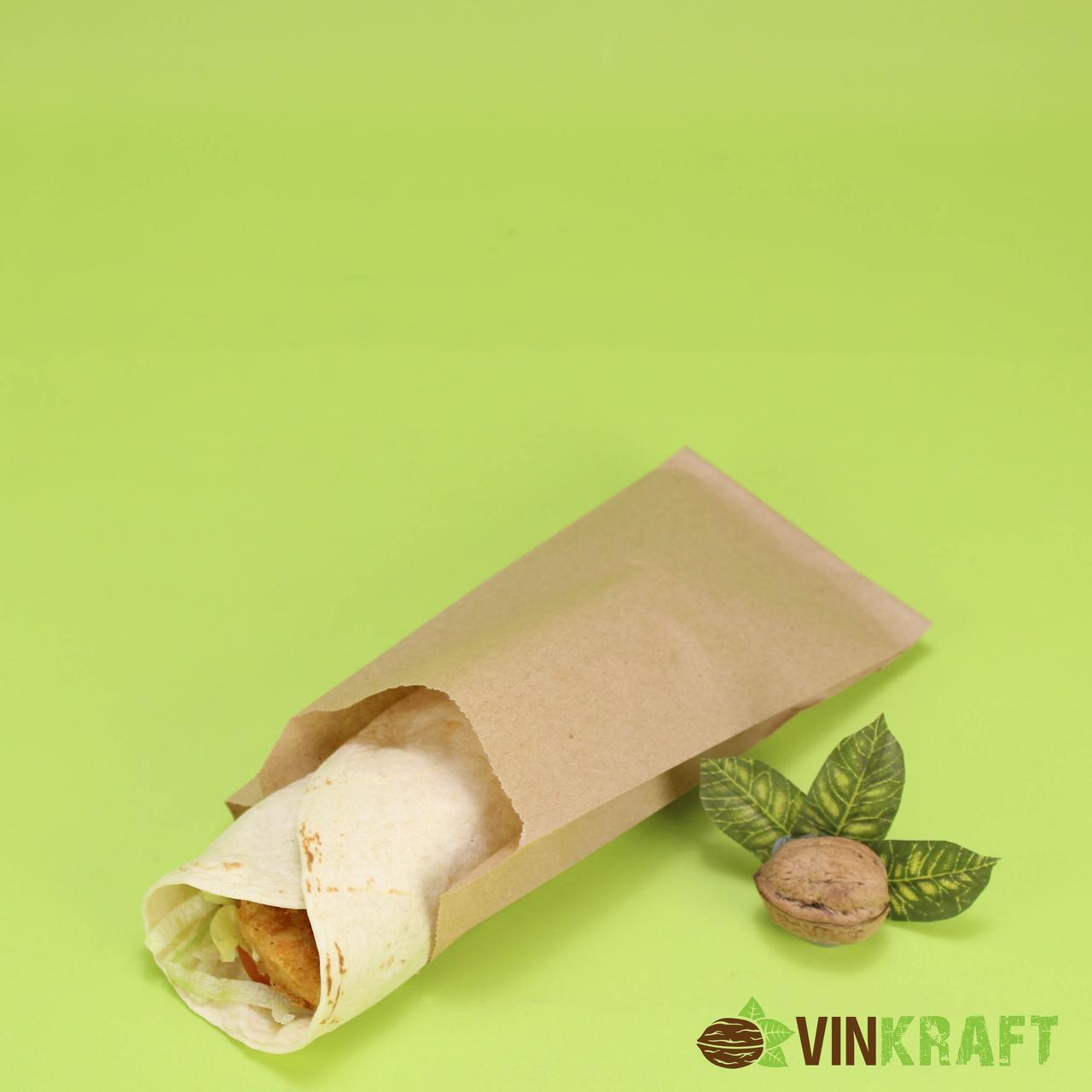 Паперовий пакет 100*40*210 (40 г/м2), крафт