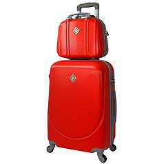 Комплект валіз Bonro Smile (невеликий) + кейс Bonro Smile (середній) червоний
