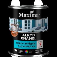 """Эмаль алкидная  ярко-зелёная 0,7 кг высококачественная TM """"Maxima"""""""