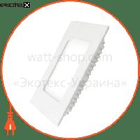 Eurolamp EUROLAMP LED Светильник квадратный Downlight NEW 4W 3000K (40)