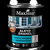 """Эмаль алкидная  чёрная матовая 0,7 кг высококачественная TM """"Maxima"""""""