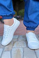 Кроссовки женские белые с розовым AAA 2-1, фото 1