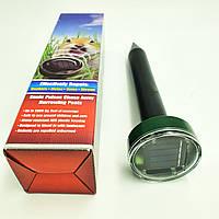 Отпугиватель грызунов кротов и насекомых аккумуляторный на солнечной батареи ультразвуковой и электромагнитный Garden Pro