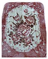 Плед Cappone гладкий (облегченка) 1,5 х 2.Розовые розы.