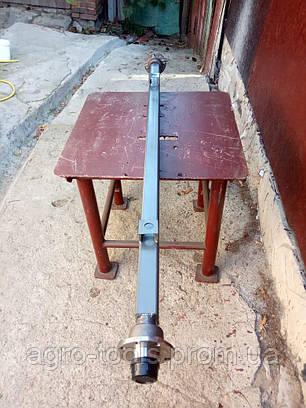 Балка для прицепа квадратная, усиленная  со ступицами ВАЗ 2108 под жигулевское колесо АТВ-155 (08Р), фото 2