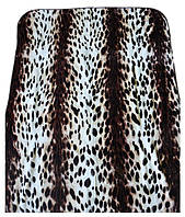 Плед Cappone гладкий (облегченка) 1,5 х 2. Леопардовый принт.