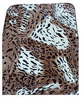Плед Cappone гладкий (облегченка) 1,5 х 2. Леопардовый рисунок.