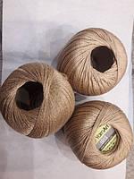 Нитки  для вязания хлопок ирис Ірис Пряжа Iris  YarnArt 100% бавовна, бежевий, 1 шт. № 0930