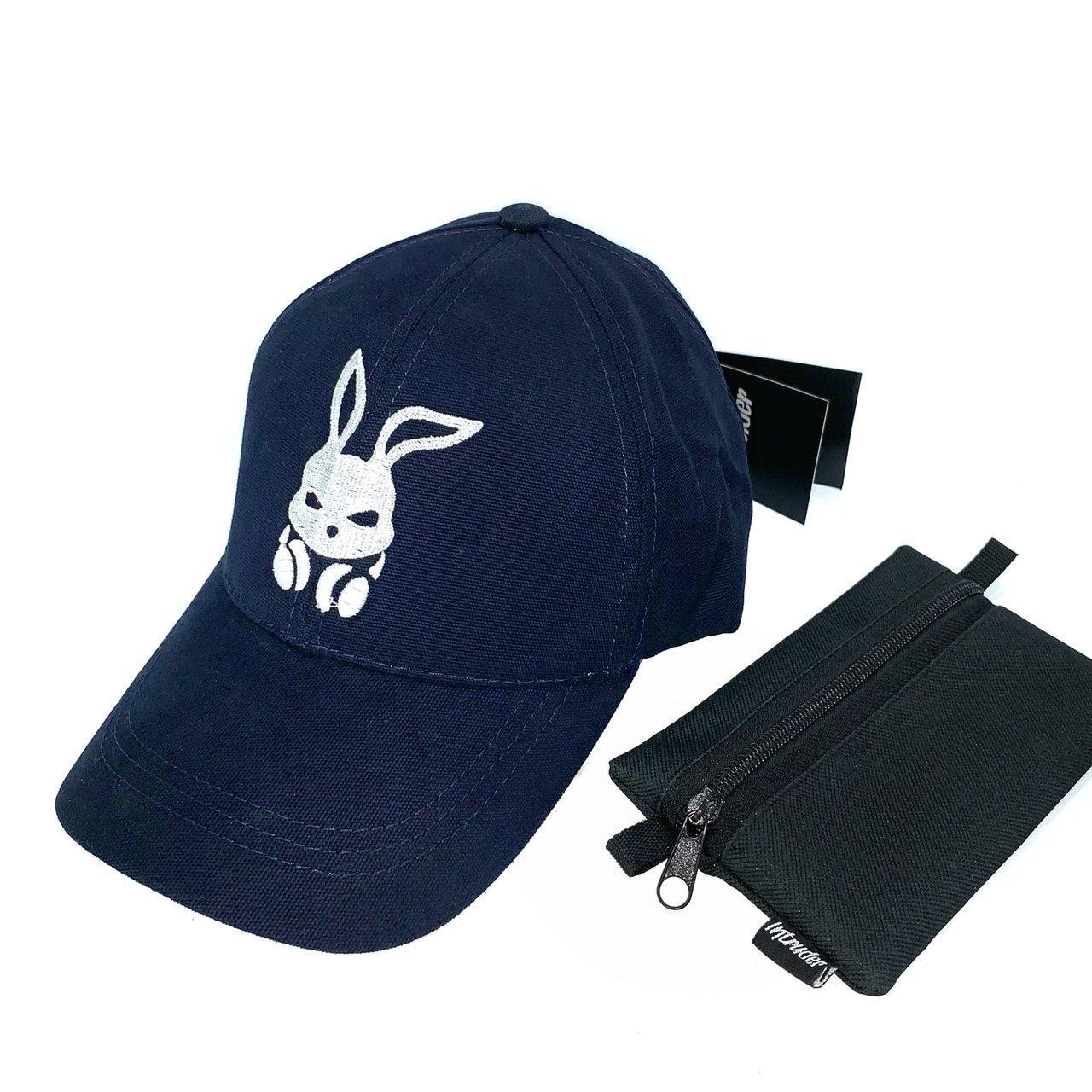 Кепка мужская/ женская Intruder bunny logo синяя Intruder