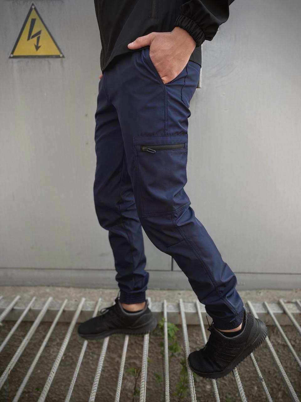 Мужские штаны Intruder Softshell Light синие