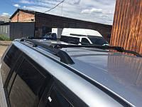 Mitsubishi Pajero Sport Перемычки багажник на рейлинги под ключ Серый