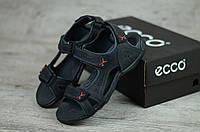 ECCO RECEPTOR мужские кожаные сандалии босоножки чёрные