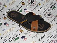 TIMBERLAND 1 мужские кожаные сандалии шлёпанцы