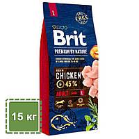 Сухой корм с для взрослых собак крупных пород (25-45 кг) | Brit Premium Dog Adult L | 15 кг