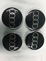 Ковпачки в титанові диски для Audi 65мм під склом