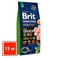 Сухой корм для взрослых собак гигантских пород (45-90 кг) | Brit Premium Dog Adult XL | 15 кг