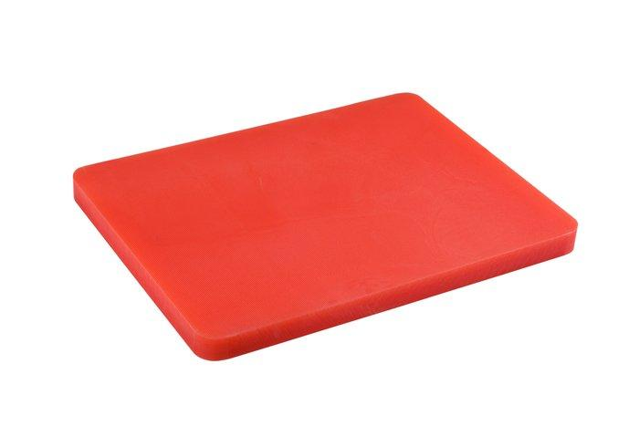 Доски кухонные | Разделочные доски | Разделочная доска пластиковая красного цвета 440*300*50мм 2556
