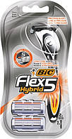 Bic Flex 5 Hybrid станки для бритья /5 лезвий/ 1шт+ 2 сменные кассеты