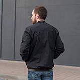 Чоловіча куртка (вітрівка) чорного кольору., фото 4