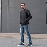 Чоловіча куртка (вітрівка) чорного кольору., фото 3