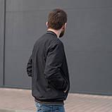 Чоловіча куртка (вітрівка) чорного кольору., фото 2