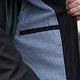 Чоловіча куртка (вітрівка) чорного кольору., фото 7