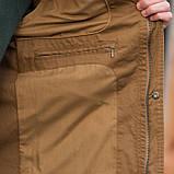 Чоловіча куртка (вітрівка), коричневого кольору., фото 4