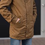 Чоловіча куртка (вітрівка), коричневого кольору., фото 5