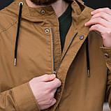 Чоловіча куртка (вітрівка), коричневого кольору., фото 6