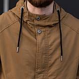 Чоловіча куртка (вітрівка), коричневого кольору., фото 7