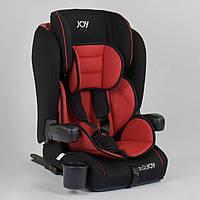 Детское универсальное автокресло JOY 96710 Черный с красным, система ISOFIX, группа 1/2/3, от 9-36 кг