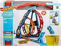Трек Hot Wheels Конструктор трасс Тройная петля Хот Вилс Track Builder Unlimited Triple Loop Kit GLC96, фото 1