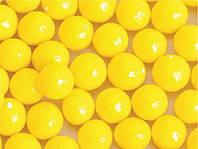 Присипка цукрова для кондитерських виробів Намистинки глянцеві жовті 10 мм, 20 г