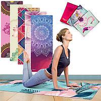 Коврик полотенце для йоги фитнеса и пилатеса(Yoga mat towel)