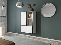Гостиная Roco 17 белый/черный/белый (модульная мебель)(Cama)