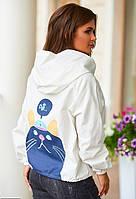 Женская  молодежная ветровка с принтом  размер Универсал