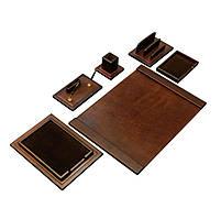 Элитный настольный набор для руководителя 80003 70*50 см коричневый Дикий запад