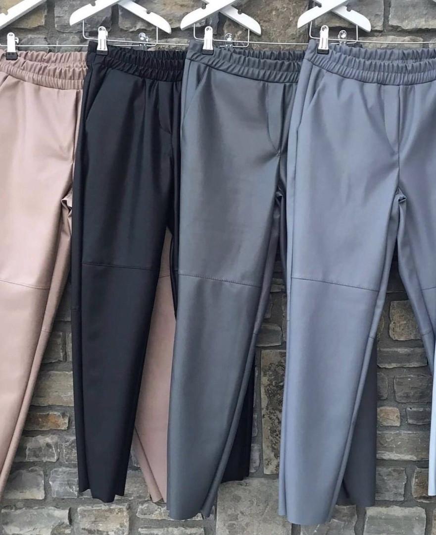 Женские брюки эко кожа 42-46 рр   чёрные