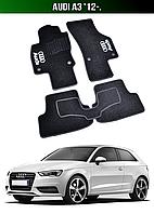 Коврики Audi A3 '12-. Текстильные автоковрики Ауди А3, фото 1