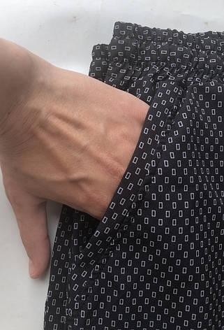 БАТАЛЬНЫЕ летние штаны N°17/3 чёрный, фото 2