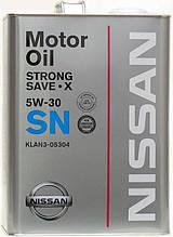 Оригинальное моторное масло NISSAN STRONG SAVE X SN 5W-30, 4л.