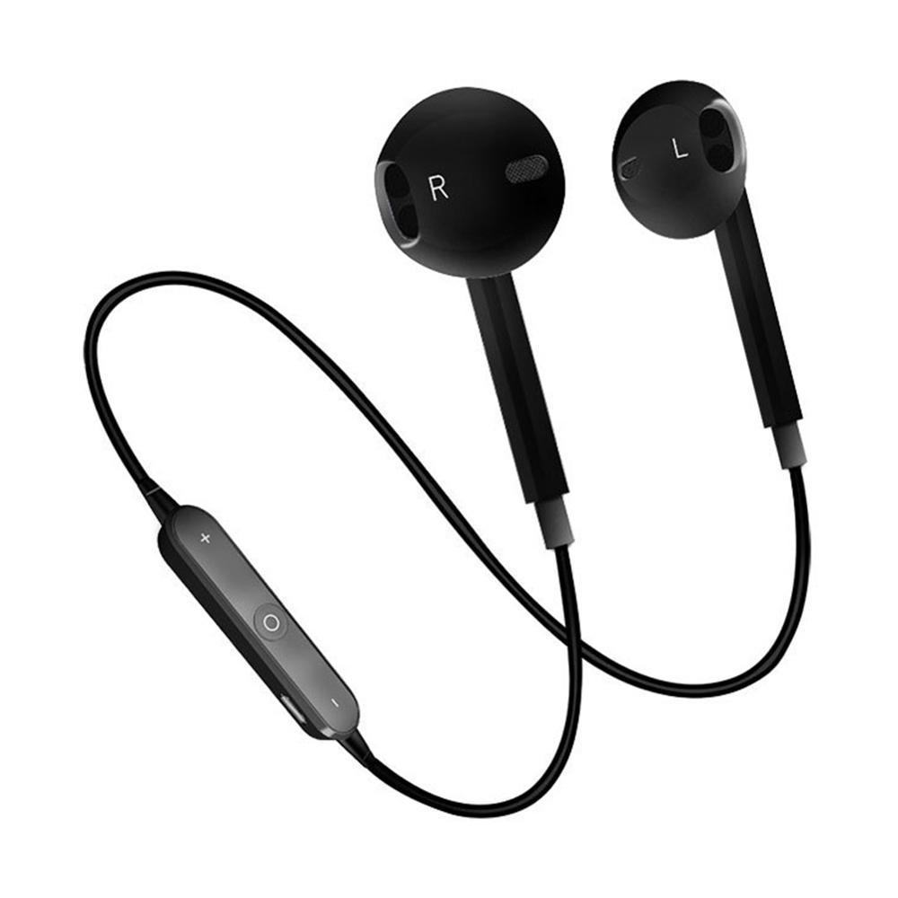 Беспроводные наушники Sport Bluetooth S6 черные